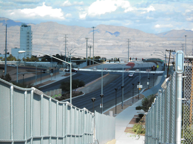 North 5th Street, pictured Oct. 29, stretches north from downtown North Las Vegas to Carey Avenue, where officials hope to pick up work on the North 5th Street Super Arterial project later this ye ...
