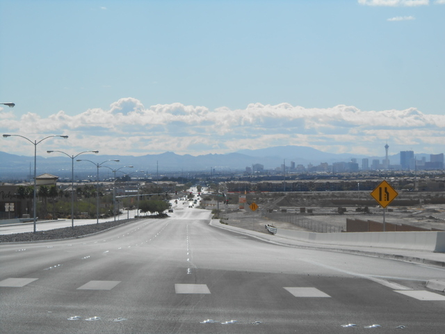 North 5th Street, pictured Oct. 29, stretches south from the Las Vegas Beltway toward downtown North Las Vegas, where officials broke ground on the North 5th Street Super Arterial project, the cit ...