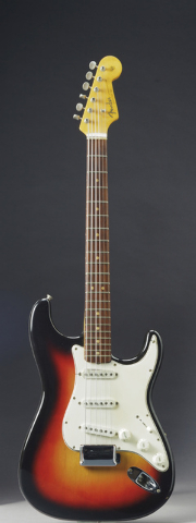 This undated photo provided by Christie's shows the Fender Stratocaster a young Bob Dylan played at the historic 1965 Newport Folk Festival. On Dec. 6, 2013, it could bring as much as half a milli ...