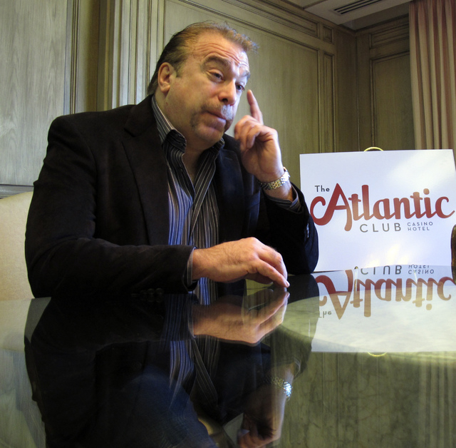 Michael Frawley is president of The Atlantic Club Casino Hotel in Atlantic City N.J. The casino filed for Chapter 11 bankruptcy protection late Wednesday and says it will remain open as a buyer is ...