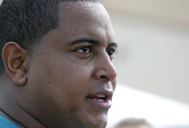 Miami Dolphins tackle Jonathan Martin in interviewed after an NFL football practice in Davie, Fla. In the stadium program sold at the Miami Dolphins' game on Halloween, Richie Incognito was asked  ...