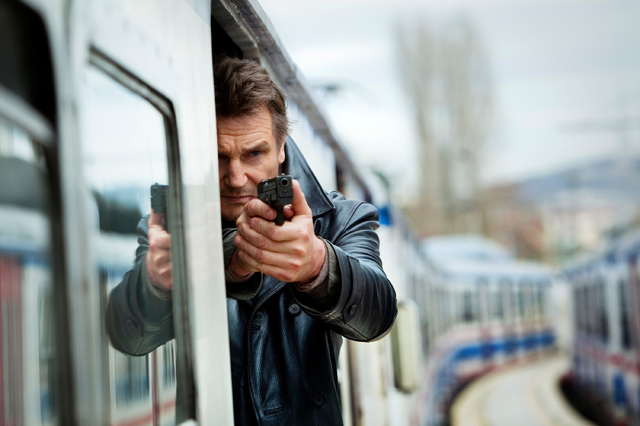 """This image released by 20th Century Fox shows Liam Neeson in a scene from """"Taken 2."""" Gun violence in PG-13 rated movies has increased considerably in recent decades, to the point that it ..."""