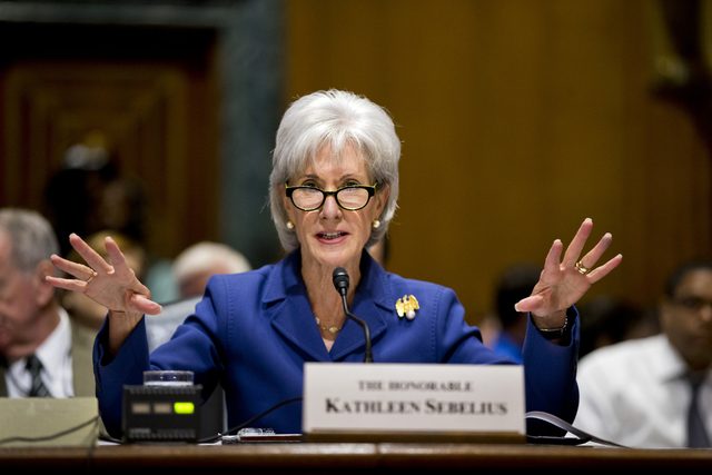 Health and Human Services Secretary Kathleen Sebelius testifies on Nov. 6 on Capitol Hill on the difficulties plaguing the implementation of the Affordable Care Act. Putting a statistic on disappo ...