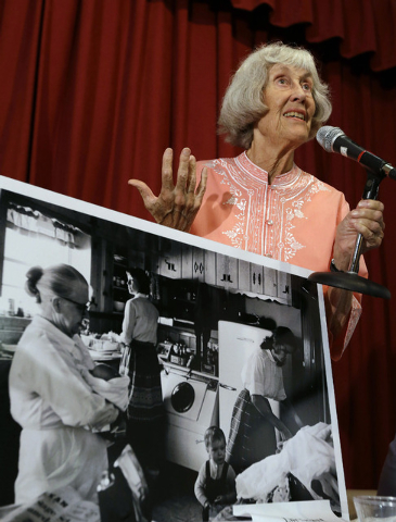 FILE - In this Friday, Sept. 13, 2013 file photo, Ruth Hyde Paine, who offered up her home and lent other aid to the Lee Harvey Oswald family prior to the assassination of President John F. Kenned ...