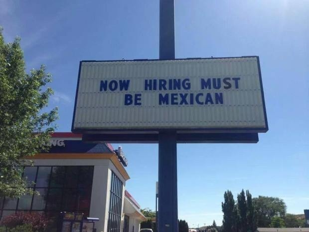 A photo posted to Facebook earlier this week put Burger King on the defensive about an event that occurred last summer and led to the firing of an employee who posted a racist sign. (Facebook)