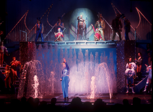 """""""Splash"""" at the Riviera is seen on Feb. 4, 1994. Wet created the laminar streams used in the show, launching the company's path. (Photo courtesy of Las Vegas News Bureau)"""