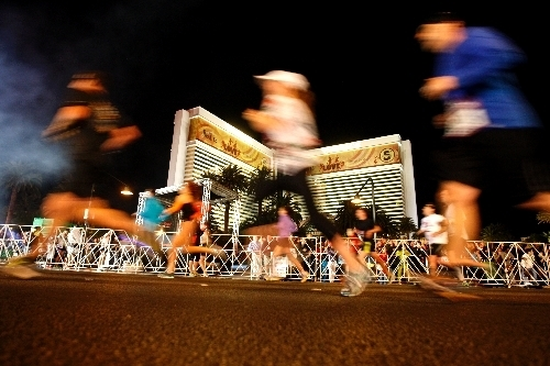 Runners participate in the 2012 Las Vegas Rock 'n' Roll Marathon. (Jessica Ebelhar/Las Vegas Review-Journal File Photo)