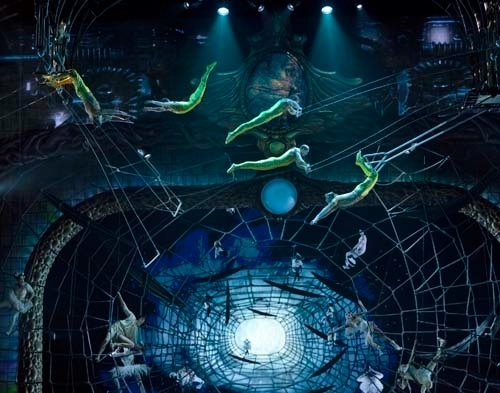 """Performers rehearse for """"Zarkana"""" in this undated file photo provided by Cirque du Soleil. (Courtesy)"""