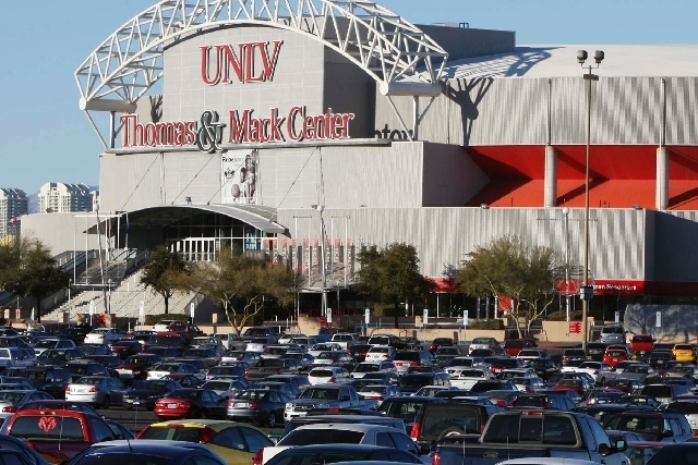 The Thomas & Mack Center, built at a cost of nearly $30 million, opened in the summer of 1983 and underwent a major interior and exterior renovation in 1999. (Las Vegas Review-Journal File Photo)