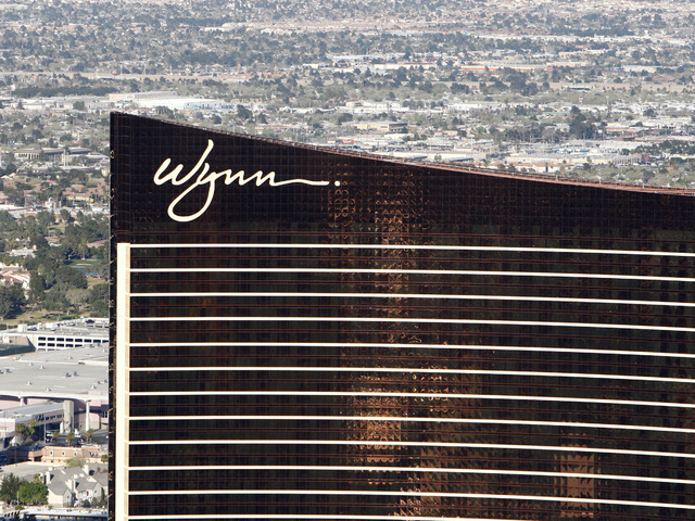 DUANE PROKOP / LAS VEGAS REVIEW-JOURNAL Wynn Las Vegas shown from the M Resort Blimp on Wednesday, March 18, 2009.