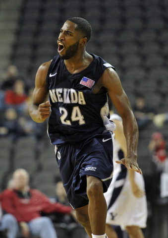 Deonte Burton has averaged 24.5 points a game this season and hit the winning shot in all three of UNR's victories. (AP Photo/Jim Prisching)