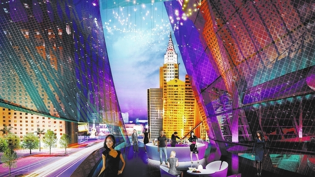An arena being built by AEG, a Los Angeles-based entertainment and arena management company, and MGM Resorts Internationals, is shown in this rendering of the balcony made available to the Las Veg ...