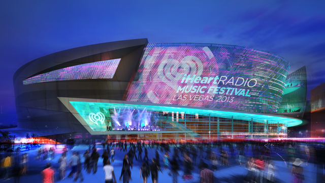 An arena being built by AEG, a Los Angeles-based entertainment and arena management company, and MGM Resorts Internationals, is shown in this rendering of the plaza made available to the Las Vegas ...