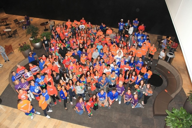 More than 300 Bishop Gorman High School students and their friends, some seen here, gathered to take part in the Walk to End Alzheimer's Oct. 26 at the Fashion Show mall, 3200 Las Vegas Blvd. So ...