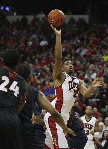 UNLV's Khem Birch (2) takes a shot against Illinois at the Thomas & Mack Center in Las Vegas on Nov. 26, 2013. (Jason Bean /Las Vegas Review-Journal)