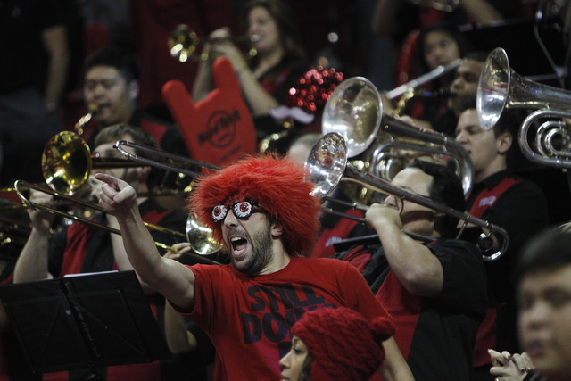 UNLV fans takes in the action against Illinois at the Thomas & Mack Center in Las Vegas on Nov. 26, 2013. (Jason Bean /Las Vegas Review-Journal)