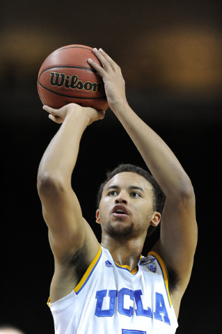 UCLA Bruins forward Kyle Anderson shoots a free throw against the Nevada Wolf Pack during their NCAA Basketball game in the Las Vegas Invitational college basketball tournament at Orleans Arena in ...