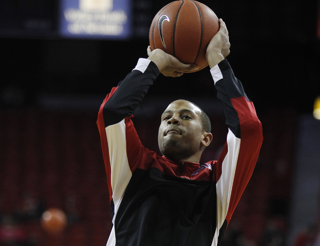 UNLV's Bryce Dejean-Jones warms up before taking on UCSB during at the Thomas & Mack Center tonight. He is expected to return to the starting lineup. (Jason Bean /Las Vegas Review-Journal)