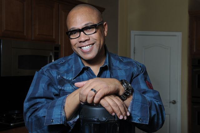 Chef Jeff Henderson poses for a portrait at his home in North Las Vegas, Nev. Friday, Nov. 8, 2013. (David Cleveland/Las Vegas Review-Journal)