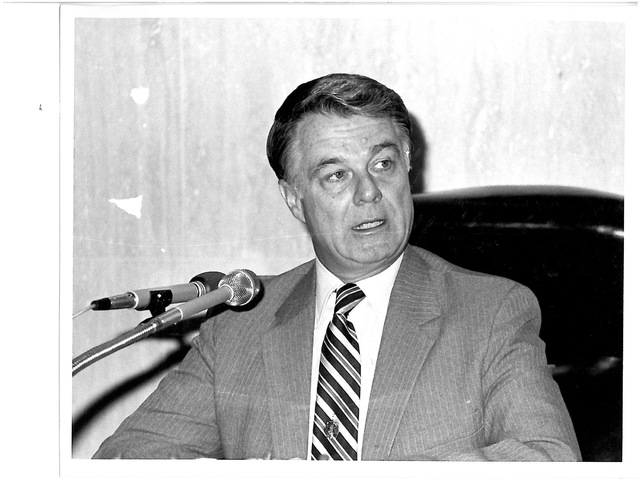 "William H. ""Bill"" Briare, former mayor of Las Vegas and namesake of Bill Briare Family Park, is seen on Jan. 20, 1982. He died in 2006. (View file photo)"
