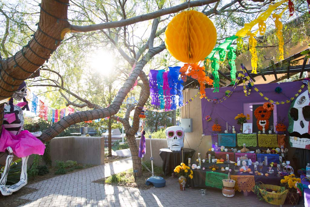 The alter for the Virgen de Guadalupe is seen at the Day of the Dead celebration at Springs Preserve on Friday, Nov. 1, 2013. (Alex Federowicz/Las Vegas Review-Journal)