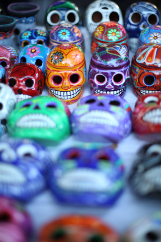 Crafts for sale at the Artesanias  Oaxaquenas booth are seen at the Day of the Dead celebration at Springs Preserve on Friday, Nov. 1, 2013. (Alex Federowicz/Las Vegas Review-Journal)