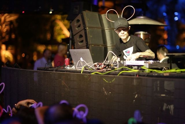 Deadmau5's surprise DJ set Friday at XS. Courtesy photo by Danny Mahoney for XS.