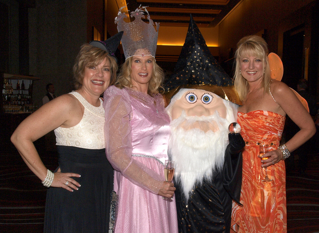 Denyce Tuller, from left, Barbara Forbes, a wizard and Cindy Dreibelbis. (Courtesy)