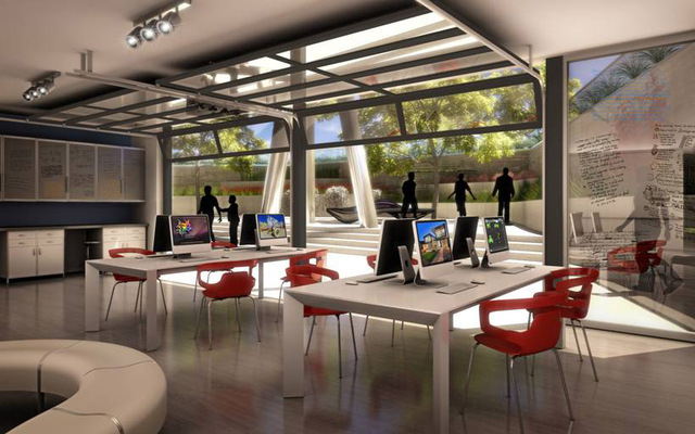 Released Nov. 14, 2013, Rendering of The Center for Creativity's Interior Classroom  --- An inspiring, new institution dedicated to visual arts and design is planned for two acres in the burgeonin ...