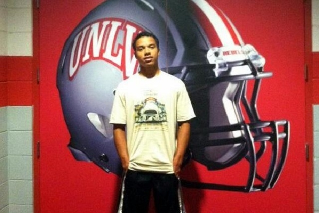 Dominique Fenstermacher, a cornerback from Phoenix's Mountain Pointe High School, committed to play football at UNLV, choosing the Rebels over Nebraska and Arizona. (Courtesy @DFenstermacher1)