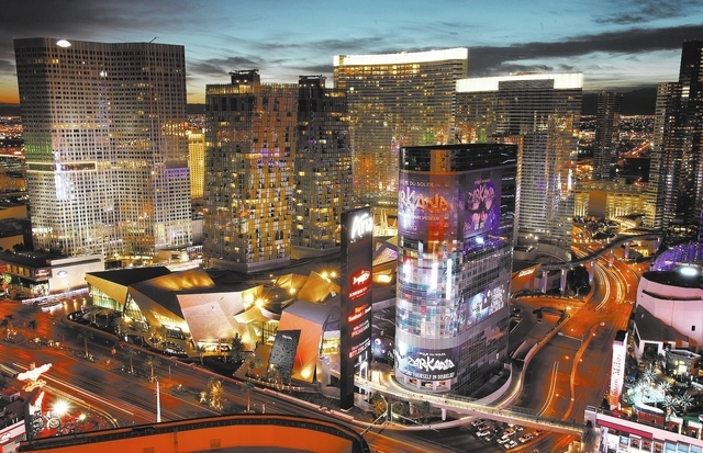 The Harmon tower sits unused at CityCenter on the Strip in Las Vegas Tuesday, Nov. 19, 2013. (John Locher/Las Vegas Review-Journal)