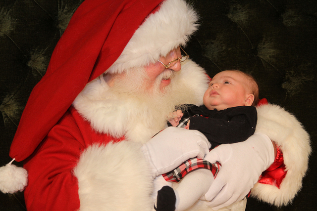 Summerlin-area resident Madason Neri, 2 months, was the first child of this holiday season to see Santa at the Galleria at Sunset mall, 1300 W. Sunset Road, Nov. 8. (Special to View)