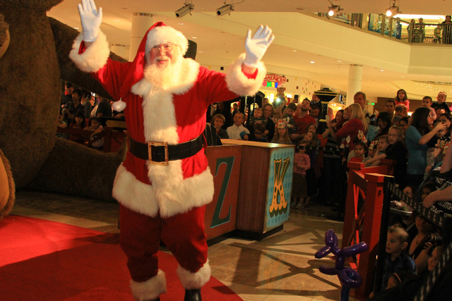 Santa greets mall patrons during his arrival ceremony at the Galleria at Sunset mall, 1300 W. Sunset Road, Nov. 8. In addition to St. Nick meeting with children for holiday wishes and photographs, ...