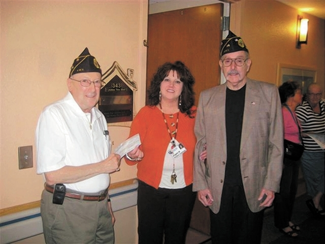 Jewish War Veterans Sgt. Manny Peven of Post 65 in Henderson honored veterans living at the Nevada State Veterans Home in Boulder City on Nov. 8, 2013. The post became the sponsor of a fourth room ...