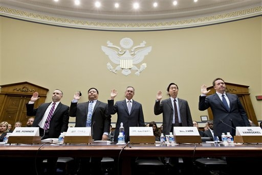 From left, David Powner, director of information technology management issues at the Government Accountability Office; Henry Chao, deputy chief information officer for Medicare and Medicaid Servic ...
