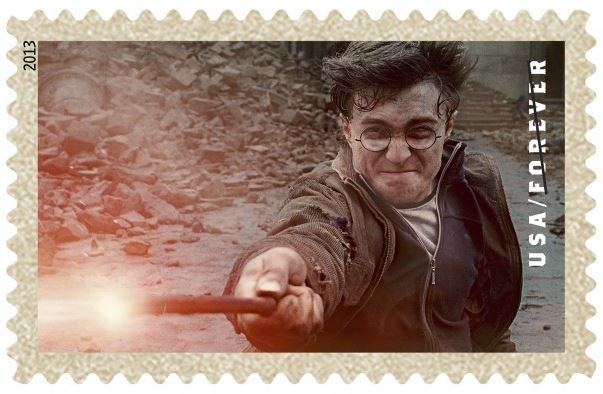 One of 20 Harry-Potter themed stamps released Tuesday by the U.S. Postal Service. The choice of figure in popular culture has irritated some traditional stamp collectors. (USPS)