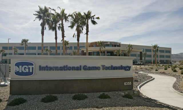 The International Game Technology office building is shown near the intersection of Buffalo Drive and Sunset Road on Wednesday, Feb. 27, 2008, in Las Vegas. (File, JEREMY LYVERSE/REVIEW-JOURNAL)