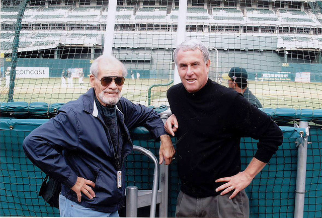 The late Bill King, left, and Ken Korach, shown in 2004, worked together on Oakland Athletics broadcasts from 1995 to 2005. Korach, who lives in Henderson and is the current A's play-by-play man ...