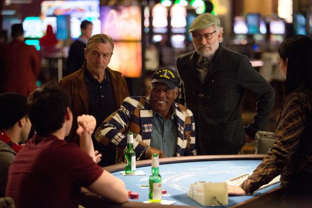 "Robert De Niro, left, Morgan Freeman and Kevin Kline star in ""Last Vegas."" (AP Photo/CBS Films, Chuck Zlotnick)"