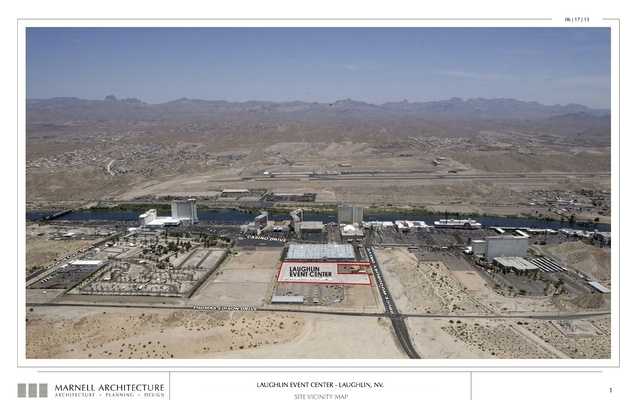 Laughlin Event Center, site vicinity map. Submitted Nov. 6, 2013. (Courtesy Marnell Architecture)
