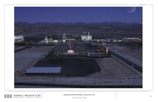Laughlin Event Center, event aerial view. Submitted Nov. 6, 2013. (Courtesy Marnell Architecture)