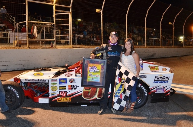 Jim Mardis, a two-time series champion in the Lucas Oil Modified Series, shown after a race, kept alive his hopes of a third straight title thanks to local racing team owner and driver Tom Pfundst ...