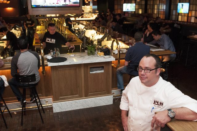 Tony Schutz is the executive chef at Michael Mina Pub 1842 in the MGM Grand. (Erik Verduzco/Las Vegas Review-Journal)