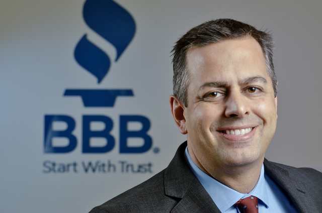 George Cartwright, president and CEO of the Better Business Bureau of Southern Nevada, poses at the organization's offices at 6040 S. Jones Blvd. in Las Vegas on Thursday, Oct. 31, 2013. (Bill Hug ...