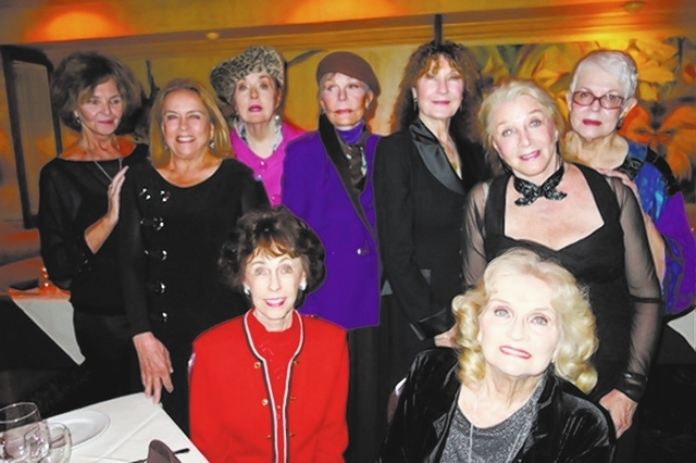Nine former Copa Girls gathered for dinner at Piero's Italian Restaurant on Sunday. They are, from left: Judy Johnson Jones, Mary Neivens, Kathy Martin, Corinne Entratter Sidney, Shirley Kirkes, B ...