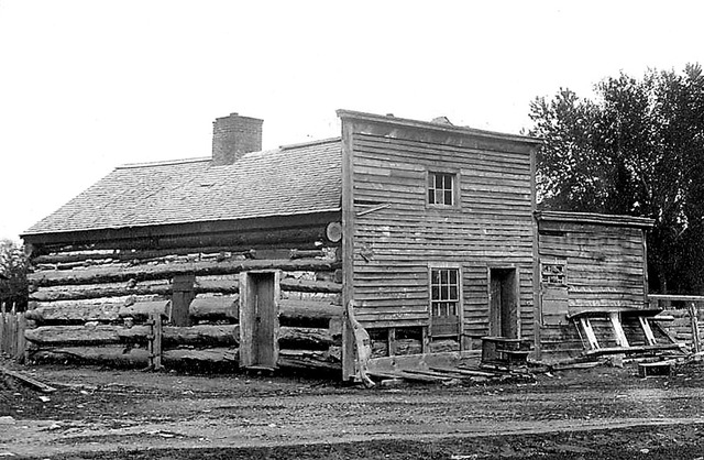 The first house built in Nevada in 1850 by Colonel Reese. It was located at Mormon Station in Genoa, Nevada. (Courtesy Special Collections, University of Nevada, Reno Library)