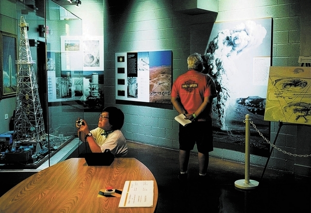 People tour the National Atomic Testing Museum in August. The facility at 755 E. Flamingo Road gained national designation after Congress passed the National Defense Authorization Act of 2012. (Jo ...