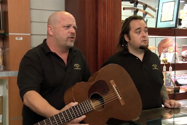 "Rick Harrison, left, and Austin ""Chumlee"" Russell of ""Pawn Stars"" can be seen in Bob Dylan's interactive ""Like a Rolling Stone"" video. (Courtesy photo)"