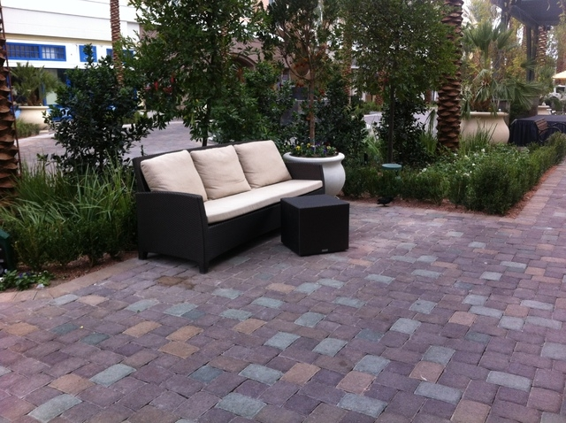 The District at Green Valley Ranch recently finished its updates to the area, which includes patio seating, cushioned benches and a two-lane road for cars, which replaced the pedestrian walkway.   ...