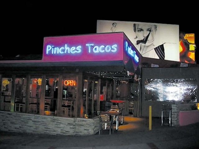 A Pinches Tacos shop in California.